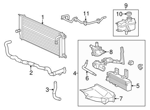 Genuine OEM Inverter Cooling Components Parts for 2011
