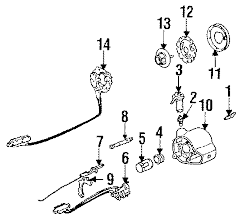 OEM 1987 Buick Century Steering Column Parts
