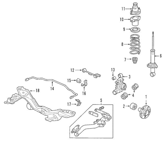 2002-2010 Honda Arm, L Rear (Upper) (ABS) 52400-S9A-A11