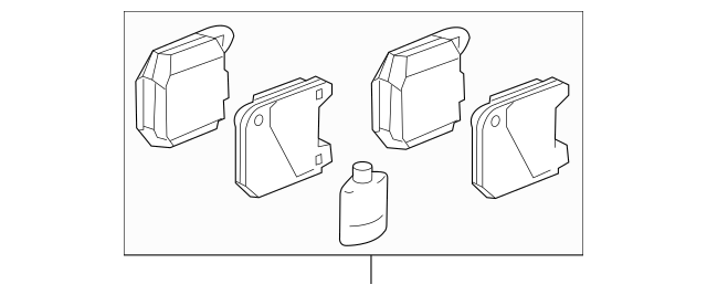 Genuine OEM Rear Pads Part# MR407391 Fits 2003-2007