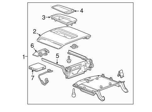OEM 2015 Cadillac Escalade ESV Center Console Parts