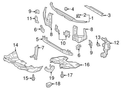 Genuine OEM Radiator Support Parts for 2016 Toyota Tacoma