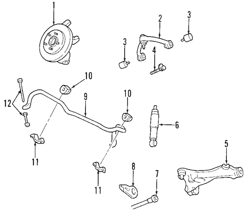 Front Suspension for 2001 Ford Expedition