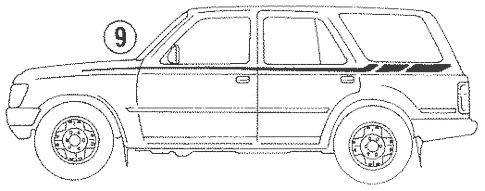 Genuine OEM Stripe Tape Parts for 1993 Toyota 4Runner SR5