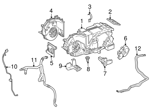 Evaporator & Heater Components for 2007 Mercedes-Benz S