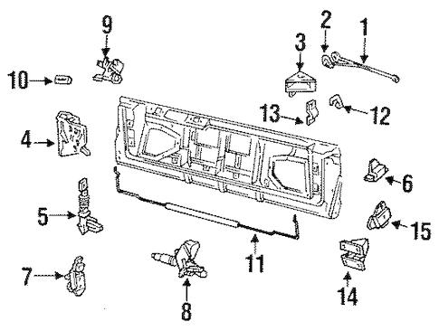 OEM 1993 Buick Roadmaster Lock & Hardware Parts