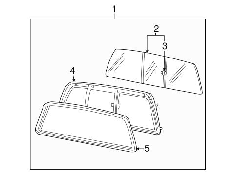99-10 Ford F250 F350 Super Duty Manual Rear Sliding Back