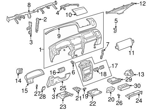 Genuine OEM Instrument Panel Parts for 1997 Toyota 4Runner