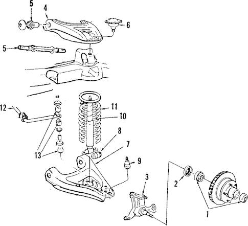 OEM 1985 Oldsmobile Cutlass Supreme Upper Control Arm