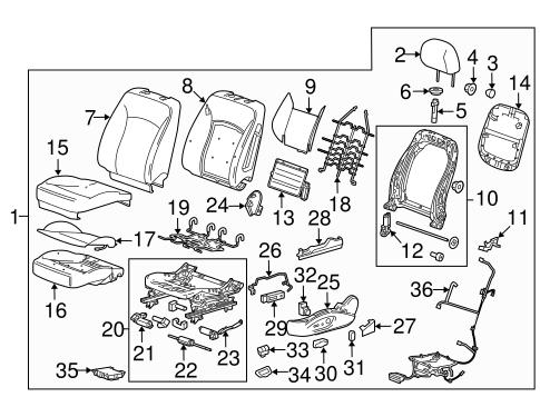 OEM 2013 Chevrolet Malibu Lumbar Control Seats Parts