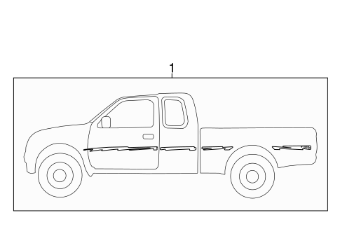 Genuine OEM Stripe Tape Parts for 1997 Toyota Tacoma SR5