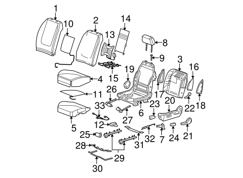 OEM FRONT SEAT COMPONENTS for 2004 Chevrolet Malibu