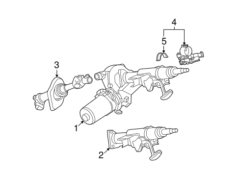 OEM 2004 Saturn Ion Steering Column Assembly Parts
