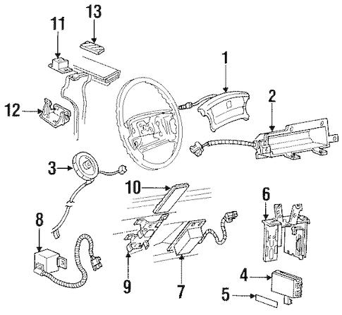 OEM 1995 Pontiac Bonneville Air Bag Components Parts