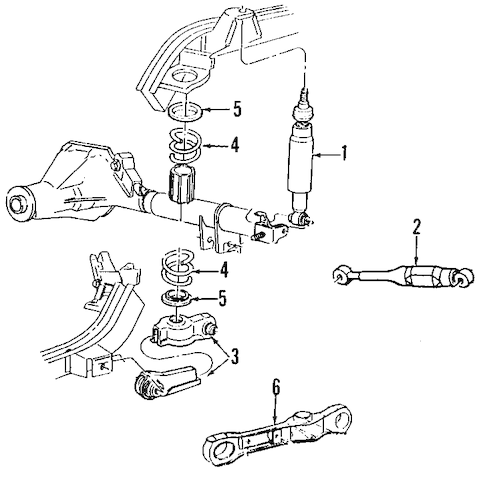 REAR SUSPENSION for 1998 Ford Mustang