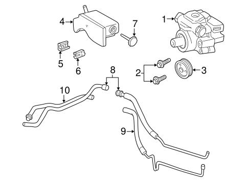 OEM 2000 Oldsmobile Alero Pump & Hoses Parts