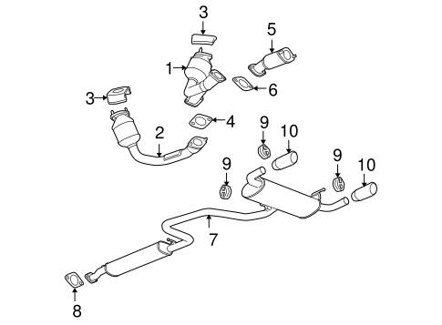 OEM 2007 Pontiac G6 Exhaust Components Parts