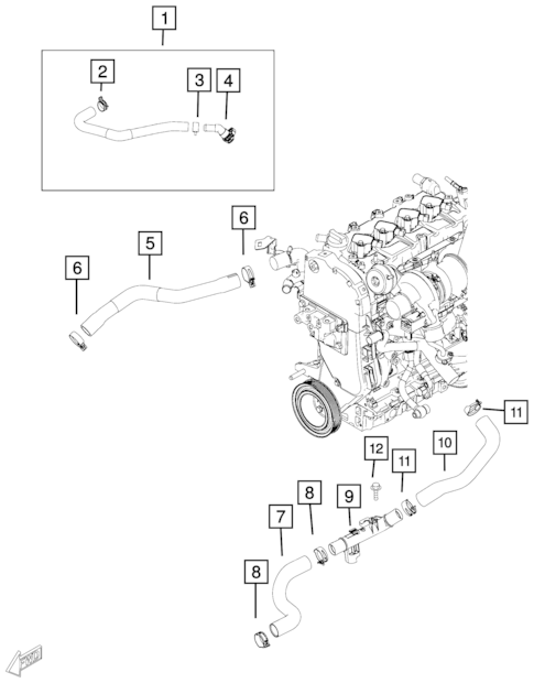 Radiator and Related Parts; Charge Air Cooler for 2018