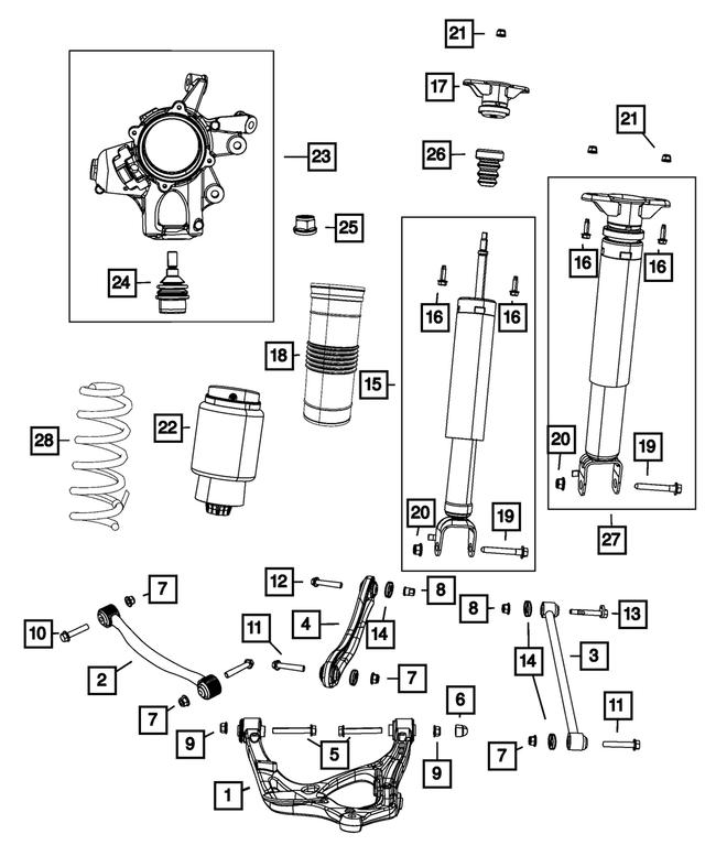 Genuine OEM Suspension Shock Absorber Kit Part# 68069675AD