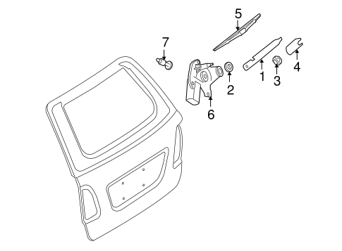 Wiper & Washer Components for 2009 Mercedes-Benz ML 350