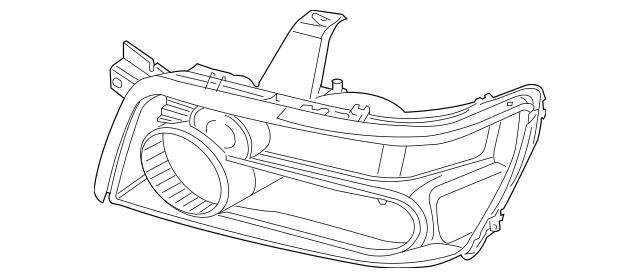2004-2010 Infiniti QX56 Headlamp Assembly Rubber Seal