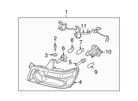HEADLAMP COMPONENTS for 2004 Infiniti QX56
