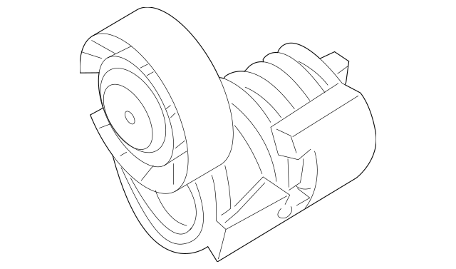 Genuine Volvo Accessory Drive Belt Tensioner Assembly