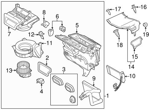 OEM 2015 Ford Transit-250 Blower Motor & Fan Parts