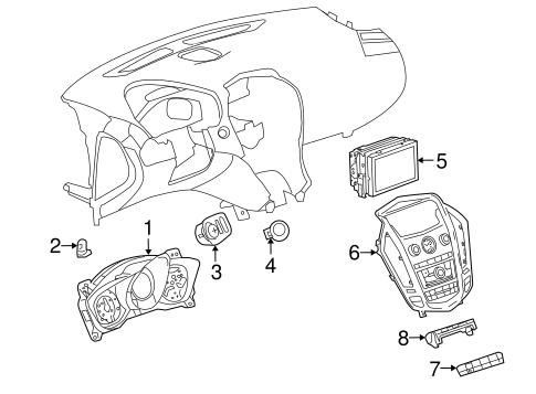 Headlamp Components for 2010 Cadillac SRX (Luxury