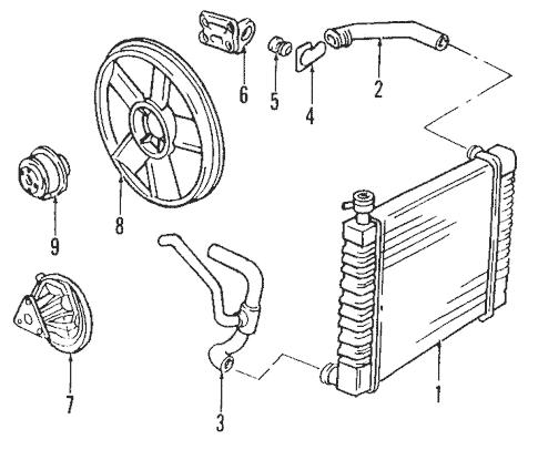 Radiator & Components for 2002 Pontiac Sunfire