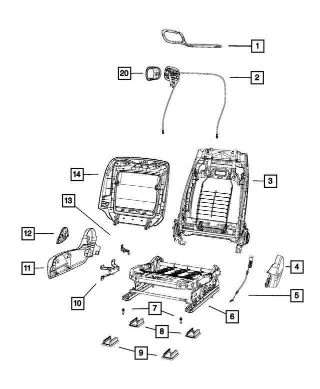 2012-2020 Dodge Challenger Manual Seat Adjuster 68200094AB