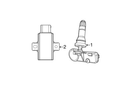 Tire Pressure Monitor Components for 2012 Jeep Grand