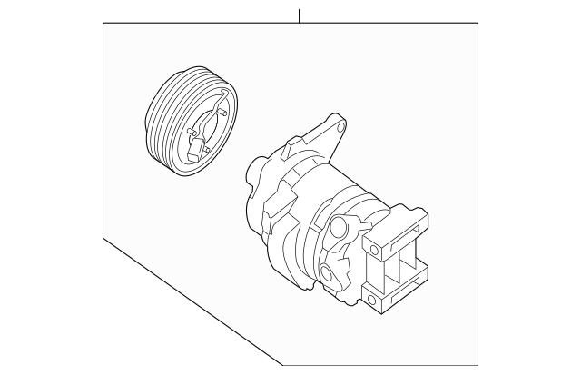 2013-2014 Infiniti Compressor Assembly 92600-3JA1A
