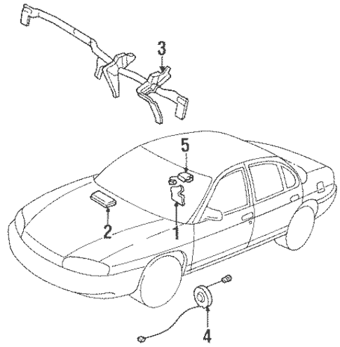 Air Bag Components for 1998 Chevrolet Monte Carlo