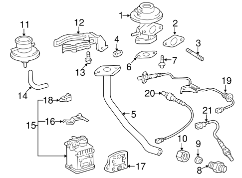 Genuine OEM EGR System Parts for 1998 Toyota RAV4 Base