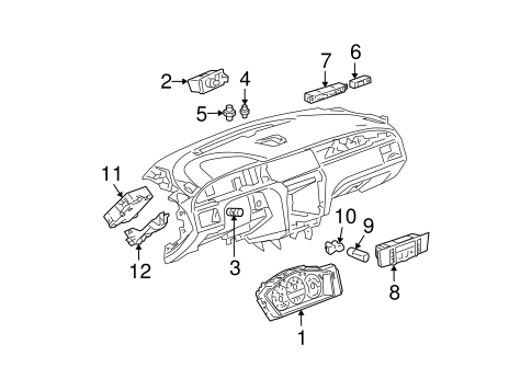 OEM AUTOMATIC TEMPERATURE CONTROLS for 2006 Buick LaCrosse