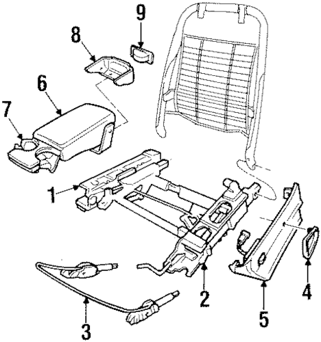 SEATS & TRACK COMPONENTS for 1998 Pontiac Grand Prix (GTP)