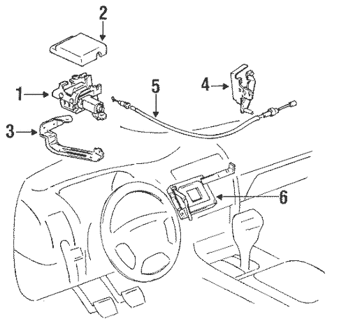 Genuine OEM Cruise Control Parts for 1997 Toyota Corolla