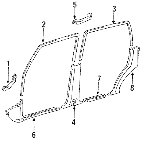 Genuine OEM INTERIOR TRIM Parts for 1994 Toyota Land