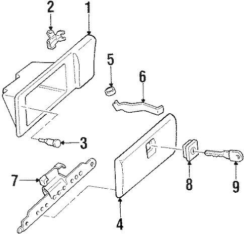 OEM GLOVE BOX for 2003 Oldsmobile Silhouette