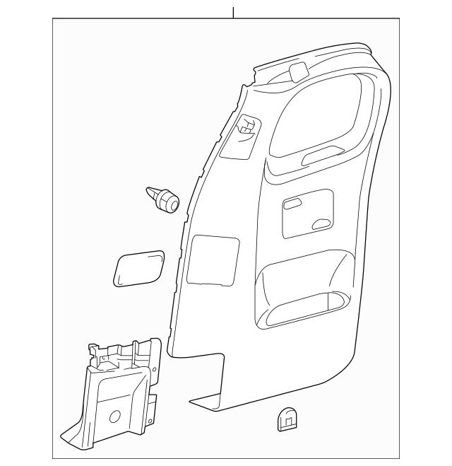 2012-2015 Toyota Tacoma Door Trim Panel 62510-04032-E0