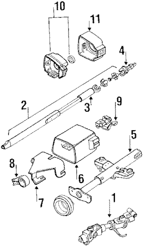STEERING COLUMN COMPONENTS for 1990 Oldsmobile Cutlass Supreme