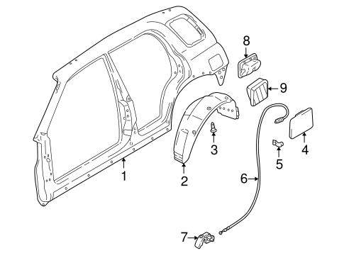Quarter Panel & Components for 2003 Suzuki Grand Vitara