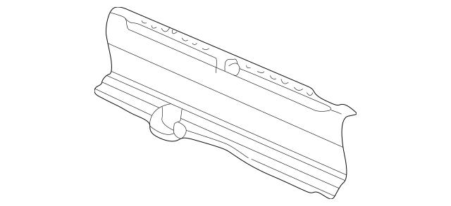 Genuine 1998-2002 Honda ACCORD SEDAN Lining, Rear Panel *NH120L* (Star Black) 84640-S84-A01ZA