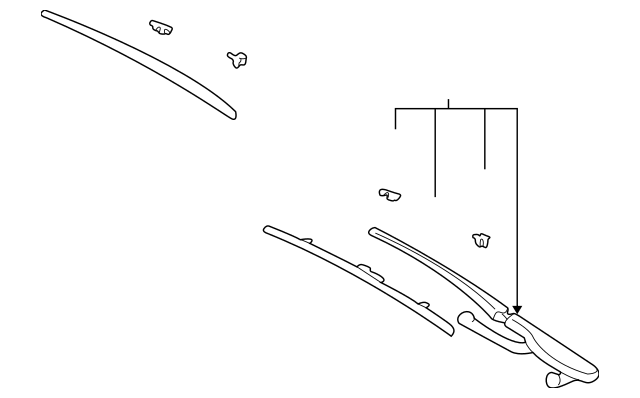 Genuine OEM Wiper Arm Part# 61-61-9-449-966 Fits 1997-2003