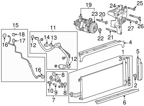 Condenser, Compressor & Lines for 2015 Chevrolet Silverado