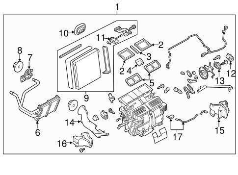 Evaporator & Heater Components for 2015 Infiniti Q50