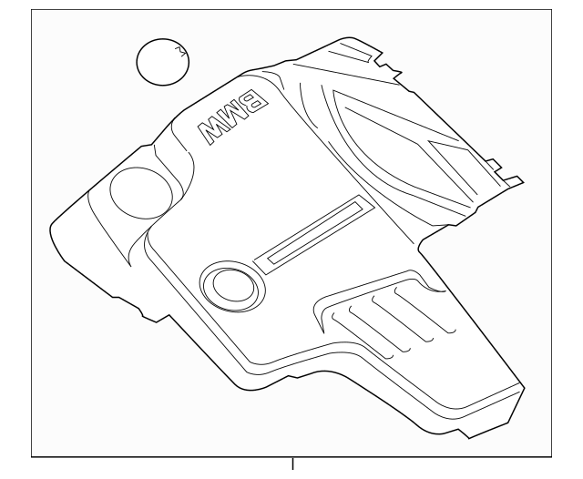 Genuine Engine Cover for 2012-2016 BMW Part# 11-12-7-636