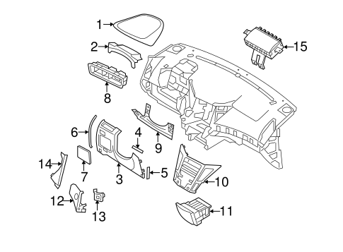Instrument Panel Components for 2013 Hyundai Sonata