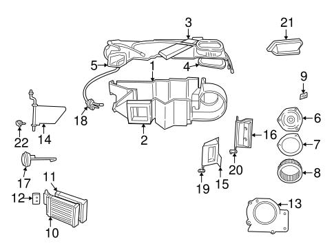 Heater Core Seal for 2000 Dodge Durango : Potamkin Parts